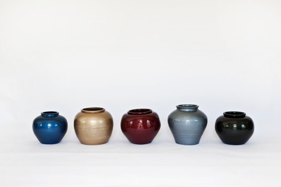 Ai Weiwei Han Dynasty Vases With Auto Paint Art Basel