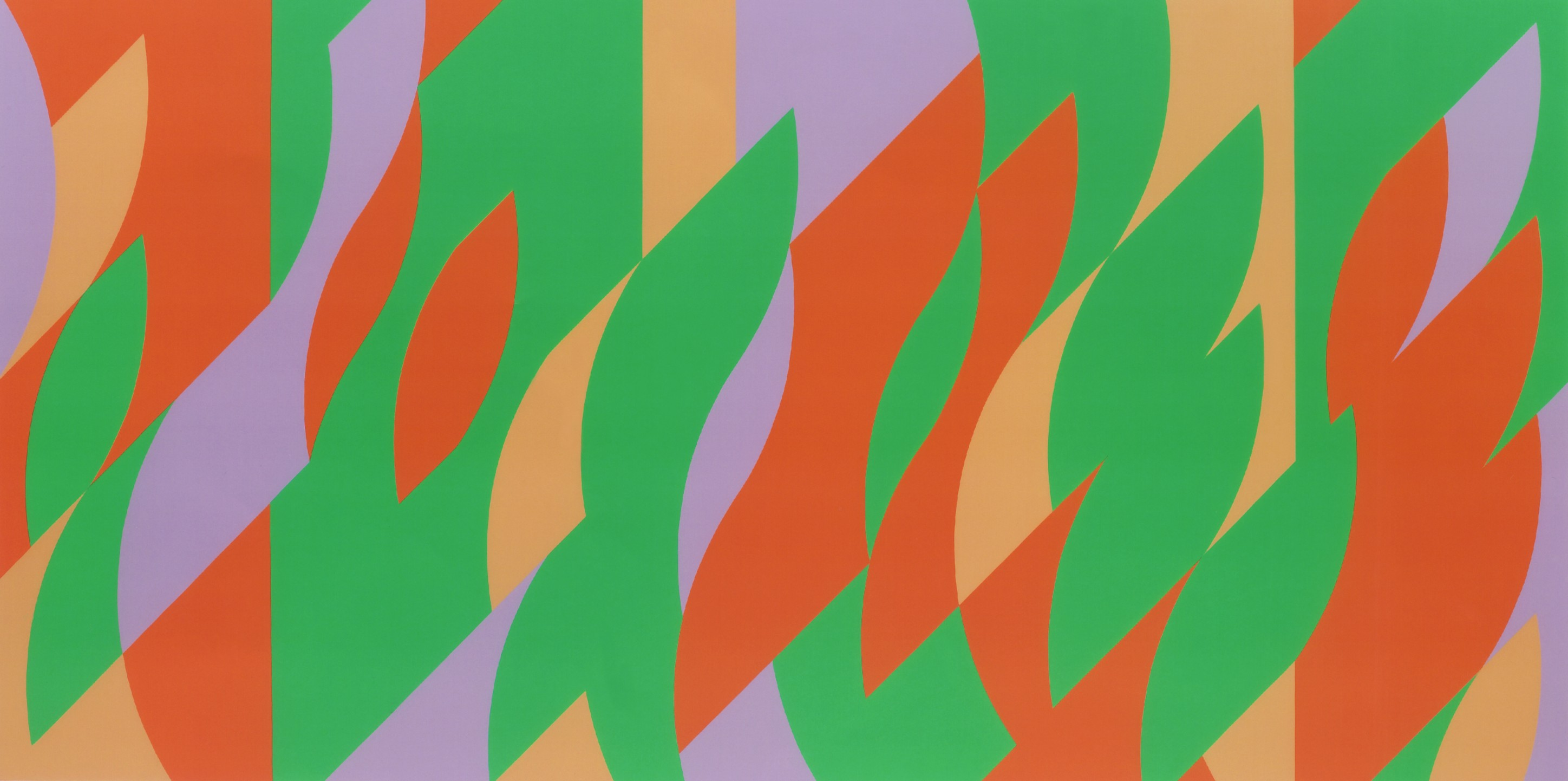 bridget riley painting with verticals 2 art basel