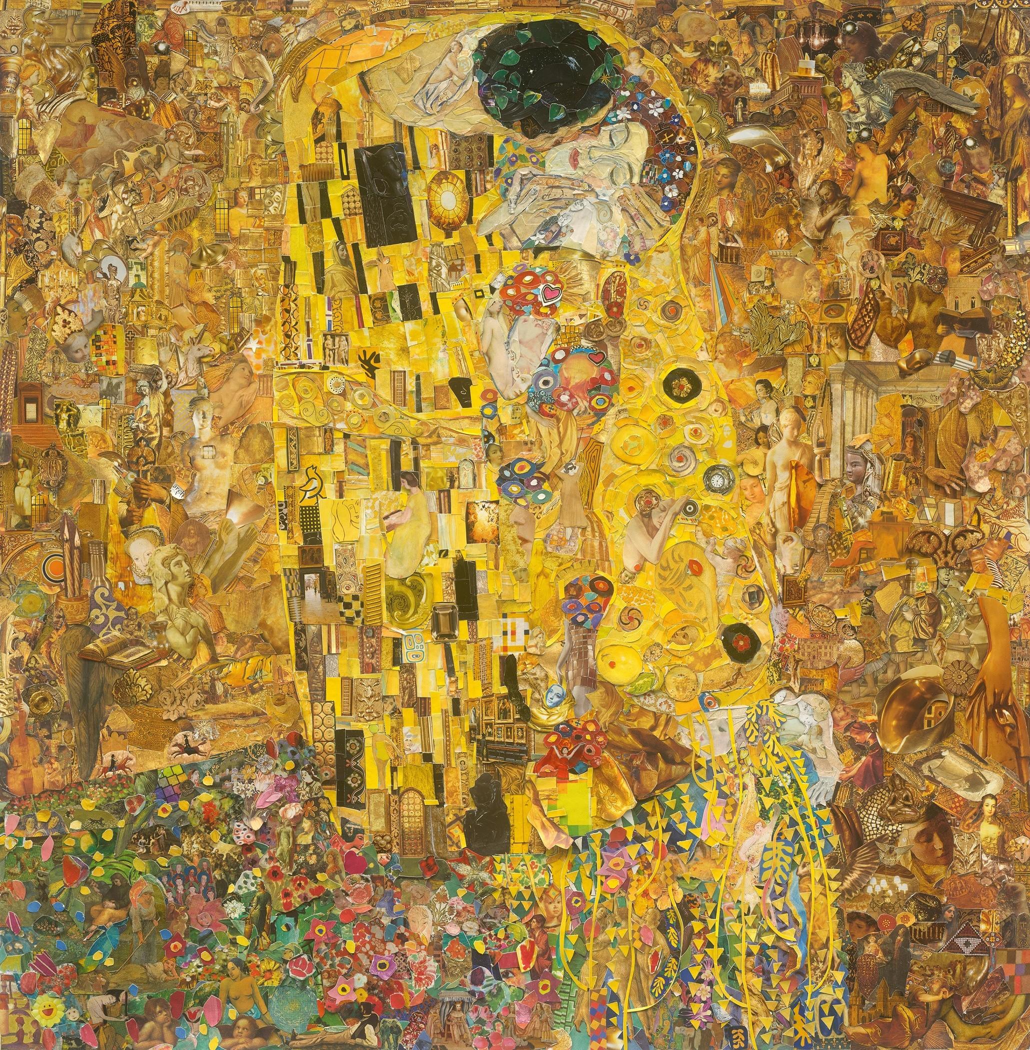 vik muniz belvedere museum the kiss after klimt repro art basel